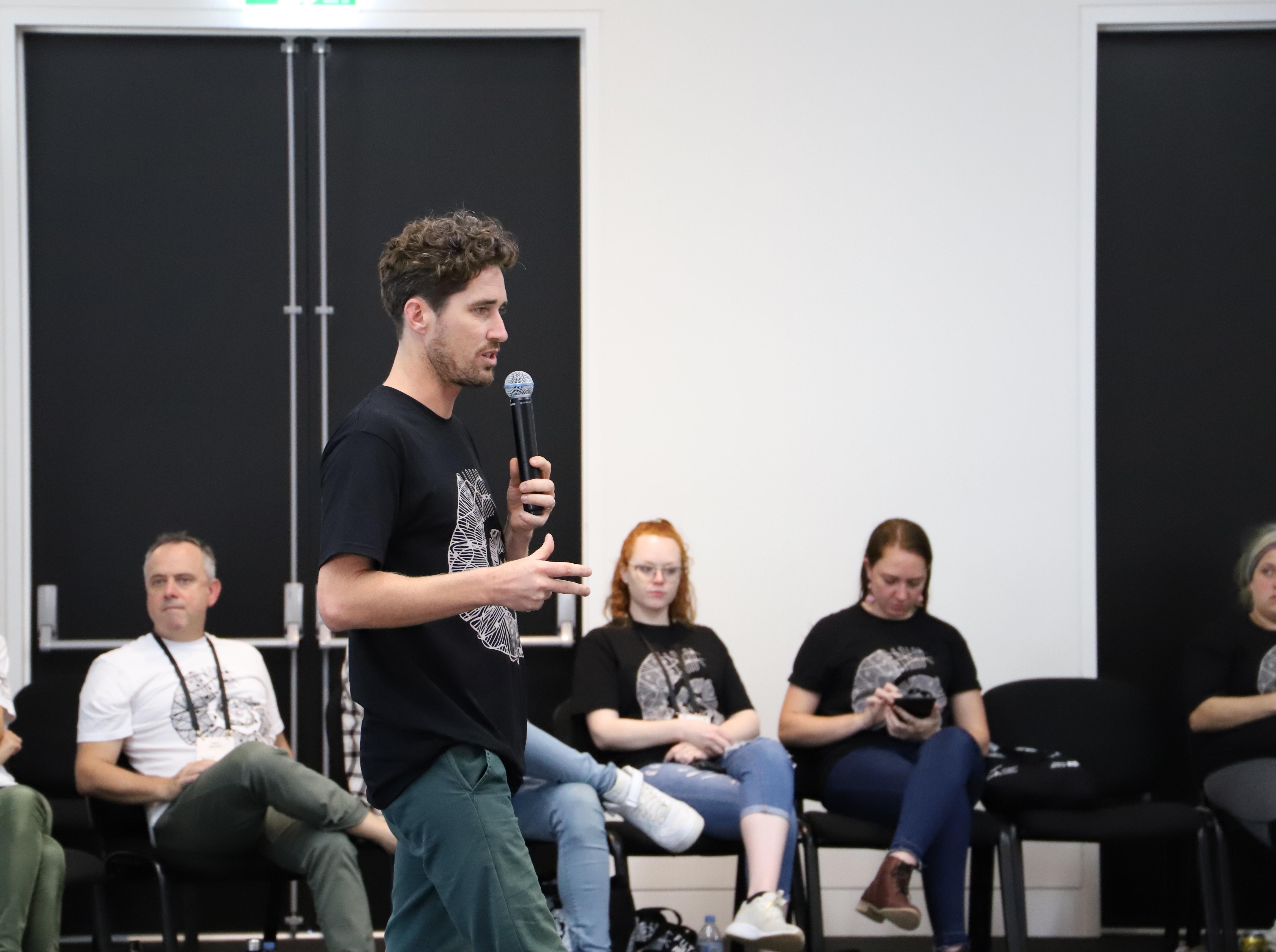 Tristan Schultz speaking