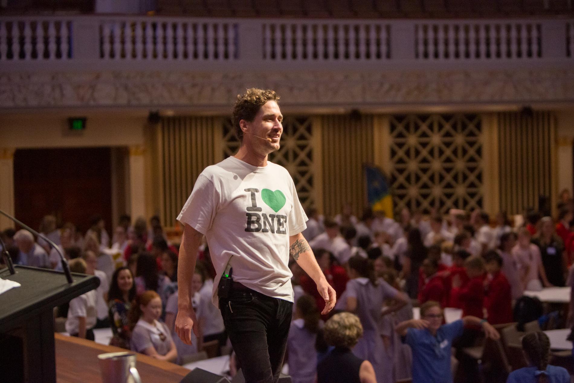 Tristan Schultz speaking FutureBNE